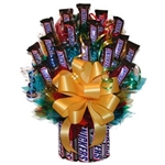 Send this wonderful candy bouquet instead of flowers to the Snickers Lover in your life.