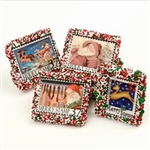 Lady Fortunes© Merry Stamps White Belgian Chocolate Covered Graham Crackers