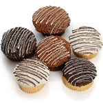 Classic Belgian Chocolate Gourmet Cupcakes - 6 Decadent cupcakes in your choice of flavors and icing