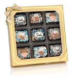 Fathers Day Chocolate Dipped Mini Crispy Rice Bar - Oreo Cookies dipped in a variety of high quality Belgian Chocolates.