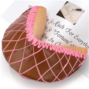 Giant Neopolitan Fortune Cookie - A chocolate, strawberry and vanilla confection