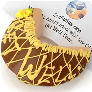 Get Well Giant Fortune Cookie with Personalized Fortune - Candies and Treats Gift Baskets and Gourmet Food
