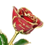 Personalized Color Rose with Gold Trim - Add A Message and Choose Colors