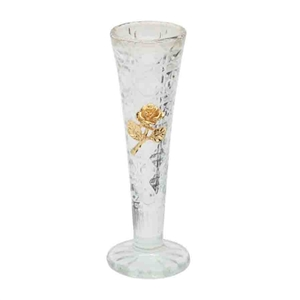 Crystal Vase with Rose Emblem