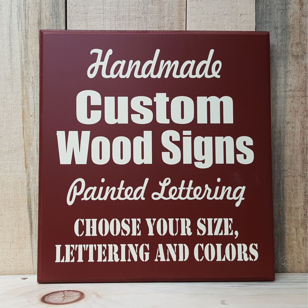 Custom Wood Sign - Create Your Own Sign Sign Shop