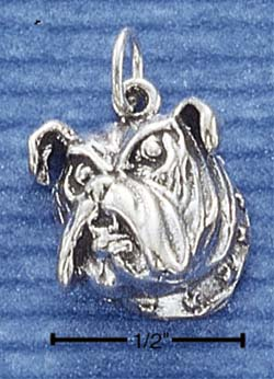 Bulldog Face Charm - Charms and Lockets Jewelry