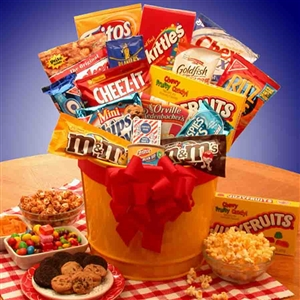 Last Minute Junk Food Basket - Fathers Day Baskets Gift Baskets and Gourmet Food