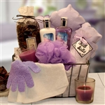 Bath and Body Spa Caddy Relaxation Bath Gift - Spa Gift Set - Give the gift of relaxation!