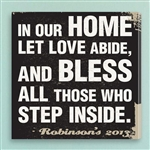 Customized In Our Home Prayer Subway Style Canvas Sign