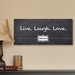 Personalized Live, Laugh, Love Chalkboard Canvas