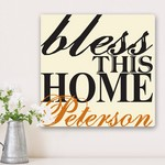 Personalized Graffiti Style Blessing of the Home Family Canvas Print