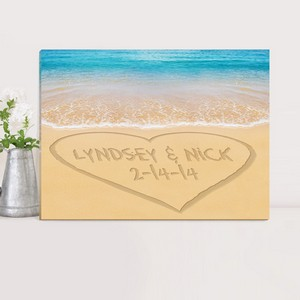 Customized Nature Inspired Caribbean Sand Canvas Sign