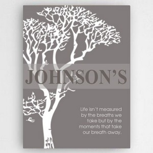 Customized Inspirational Canvas Print with Tree Motif