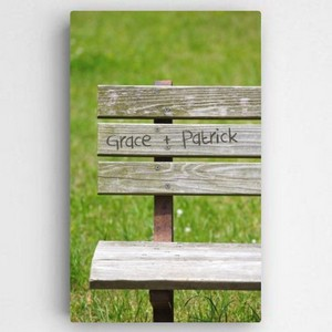 Personalized Park Bench Love Canvas