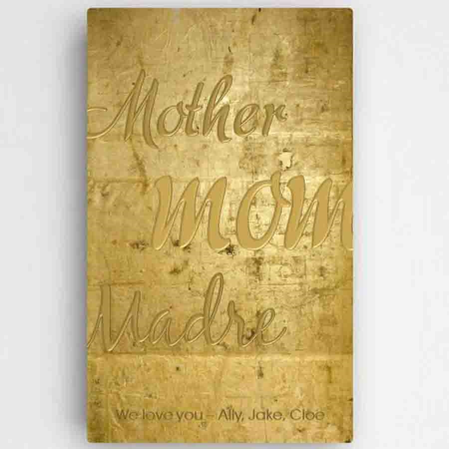 Mothers Gold Canvas Sign | Personalized Canvas Sign | Mother\'s Signs
