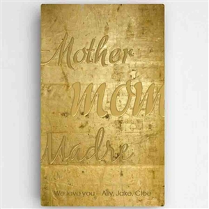 Customized Mothers Gold Canvas Sign Board