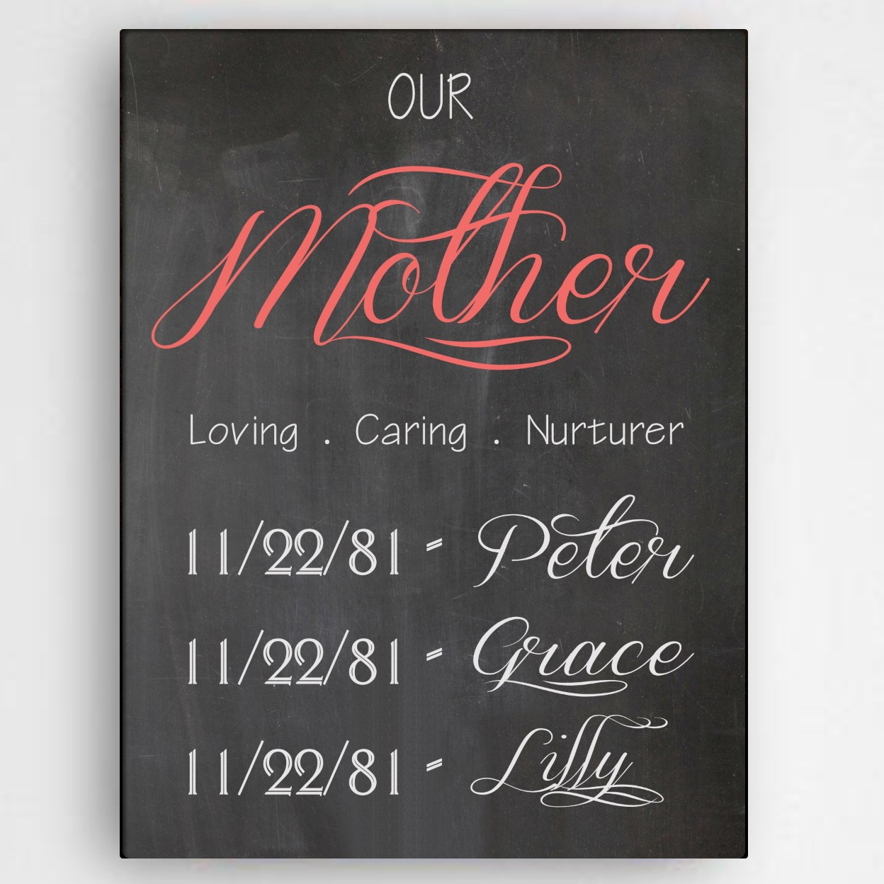 Definition Mother Canvas Personalized Canvas Sign