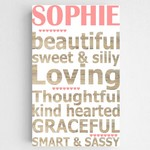 Customized Girl Definition Accented Canvas Sign