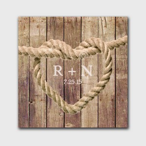 Customized Brown Knot Image Accented Canvas Sign