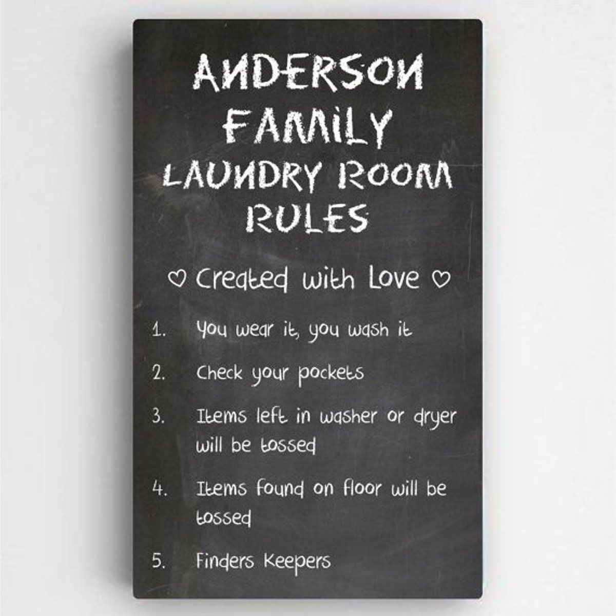 Laundry Room Rules Canvas Family Rules Signs