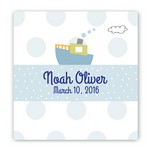 Personalized Boat Design Canvas Sign for Kids