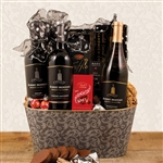 3 bottles of Robert Mondavi Private Selection Wine basket with gourmet food