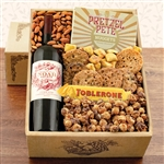 Kosher Certified Gift Box with Noah Estate Cabernet combined with tasty snacks.