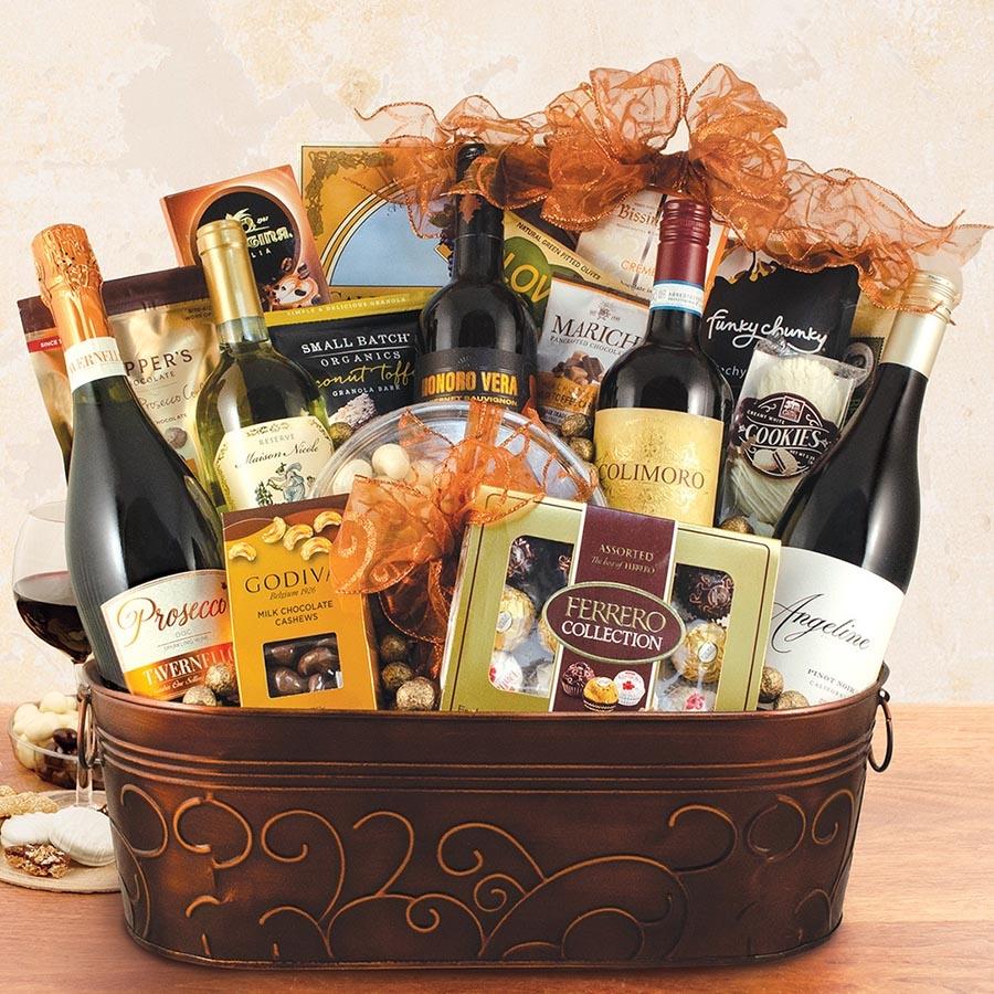 ... Wine & Champagne Gift Basket Larger Photo ...