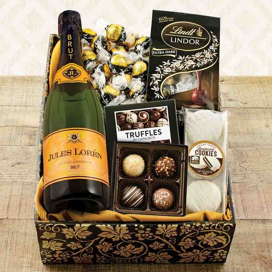 Champagne Truffles Chocolates Celebration Gift Box