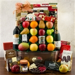 Grand Champagne, Wine, Gourmet, and Fruit Gift Basket