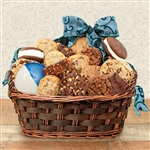 A basket of Kosher OK-Dairy Certified Bakery Goods for Hanukkah