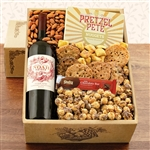 Kosher Certified Gift Box with Noah Estate Cabernet Sauvignon and tasty snacks.