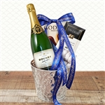 Congratulations Champagne and Chocolate Gift