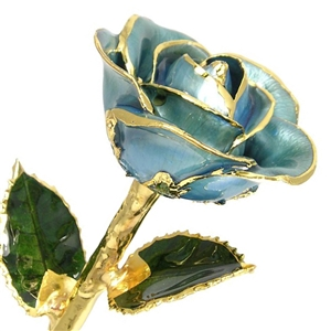 Light Blue Lacquer and Gold Rose