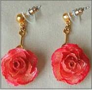 Miniature Rose Earrings...