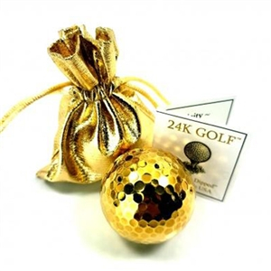 A Genuine 24 Karat Gold Plated Golf Ball - A perfect gift for golf lovers!