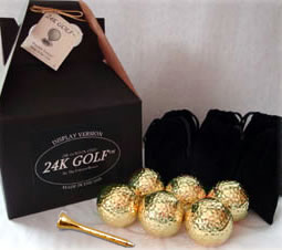 24K Gold Dipped Golf Ball and 24K Tees - 6