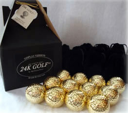 Gold Tone Golf Ball-Dozen - This makes a great golf gift for any guy!