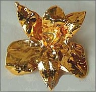 24K Gold Dipped Orchid Pin