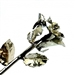 A real 12 inch rose dipped in precious platinum metal to preserve forever