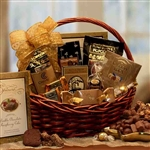 Chocolate Gourmet Gift Basket Medium - Satisify that sweet tooth with the taste of chocolate!  Large Size Shown