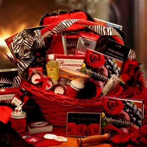 Romantic Gift Basket - Light your night on fire with an array of tempting  ways to tantalize your Valentine this year.