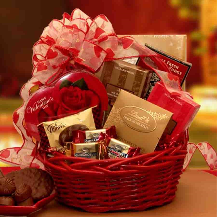 Image Chocolate Inspirations Valentine Gift Basket