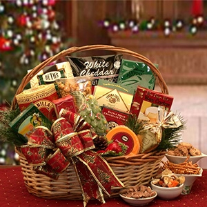 The Bountiful Holiday Gourmet Gift Basket - A variety of savory and sweet sensations