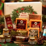 Happy Holidays Gourmet Sampler Gift Pack - Cheese, meats and a little sweetness