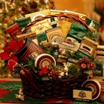 Grand Christmas Gourmet Gift Basket - Comes in 2 sizes for every price range and recipient - Medium Size Shown