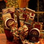 A luxurious Christmas Basket with Gourmet Foods