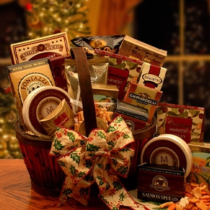 Christmas Butler Gourmet Gift Basket - This bounty of holiday treasurers will cover your wish list and bring good cheer to all!