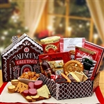 Seasons Greetings Gingerbread House Gift Box Holiday Care Package
