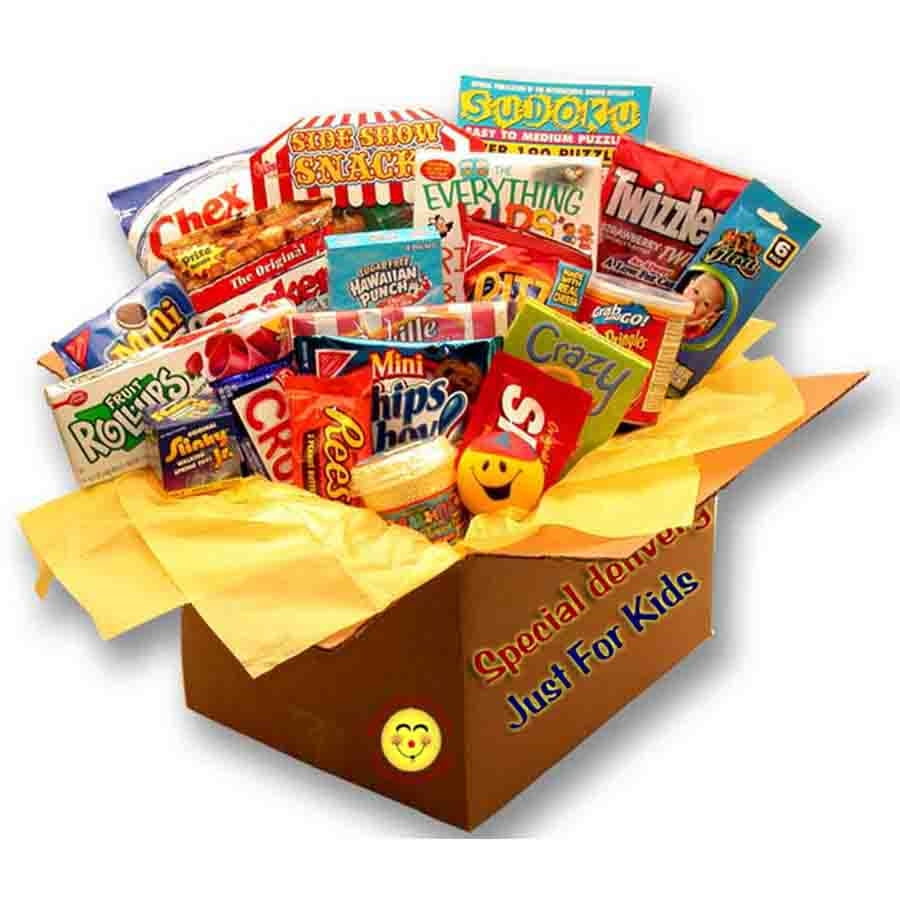 Brighten up their day and give a child something to smile about with our Kids Blast Deluxe Activity Care Package. This fun box arrives overflowing with games and treats perfect for turning any old rainy day into a blast! This childrens care package is per #gift